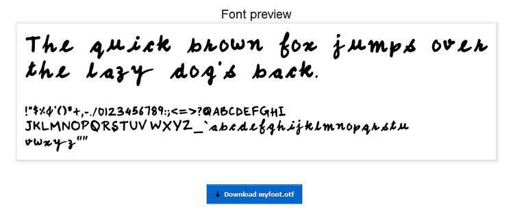 font generated